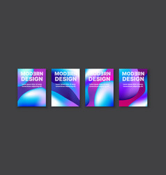 brochure banner set collection flyer abstract vector image