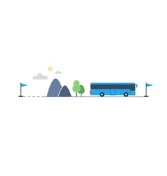 Bus transfer and transportation vector