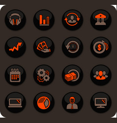 Business management and human resources icons set vector