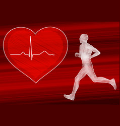 cardio training in heart disease prevention vector image