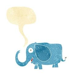 Cartoon baby elephant with speech bubble vector