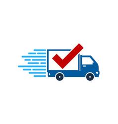 check delivery logo icon design vector image