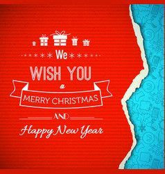 Christmas and new year congratulate template vector