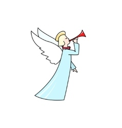 Christmas Angel Isolated on White vector