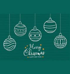 Christmas new year ornament bauble cartoon card vector
