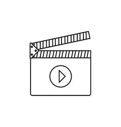 Cinema clapboard isolated vector
