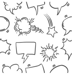 Collection stock of speech bubble pattern vector