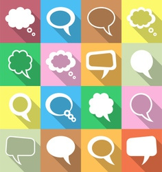 Colorful speech and thought bubbles vector