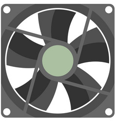 Computer fan isolated on white background vector