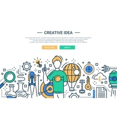 Creative Idea - line design website banner vector