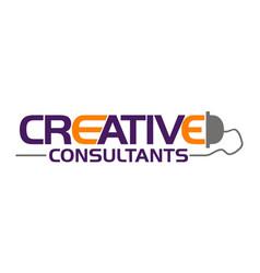 creative logo design template vector image