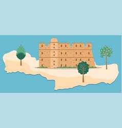 Crete island travel map vector
