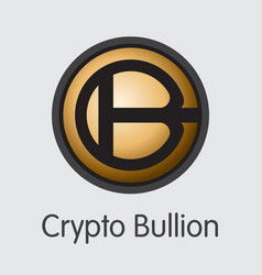 Crypto bullion virtual currency - colored vector