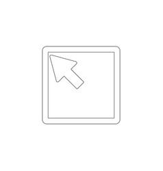 Cursor flat icon vector