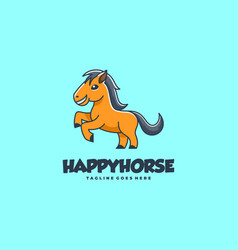 cute horse template vector image