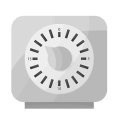 Design timer and technology logo vector