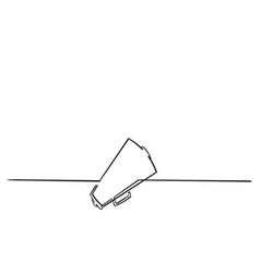 doodle megaphone with continuous line style vector image