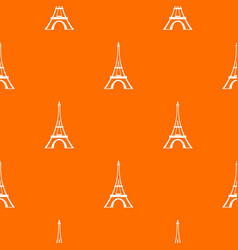 eiffel tower pattern seamless vector image