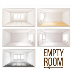 Empty room wall sunlight falling vector