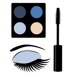 Eye mascara blue vector