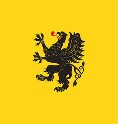 Flag of pomeranian voivodeship in poland vector