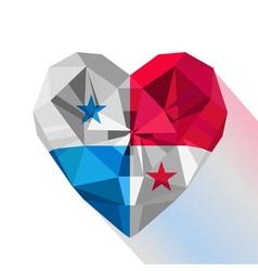 Flat style logo symbol of love Panama vector