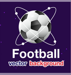 Football atomic soccer ball blue background vector