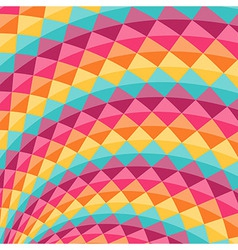 Geometric pattern with rainbow diamond shapes vector
