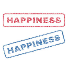 Happiness textile stamps vector