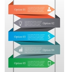 Infographics arrow template vector image