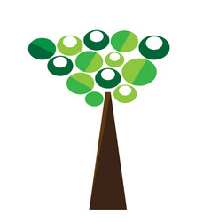 isolated abstract tree icon vector image