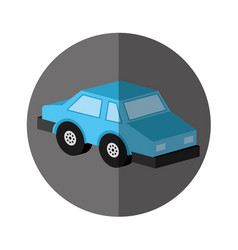 Isometric car isolated icon vector