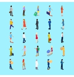 Isometric People Collection Businessman Tourist vector