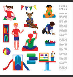 kindergarten original vector image