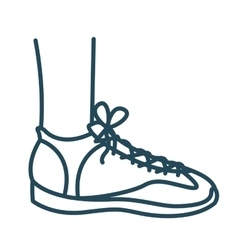 Left foot with tennis isolated icon design vector
