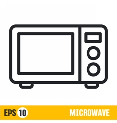 Line icon microwave vector