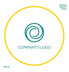 Logotype - two spirals in circle - a flower bud vector