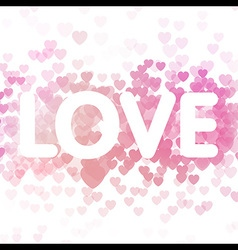 Love on heart background vector image vector image