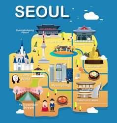 Map of seoul vector
