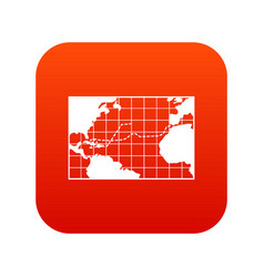 map trips of columbus icon digital red vector image