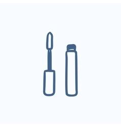Mascara sketch icon vector image