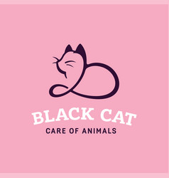 modern professonal logo cat pet vector image