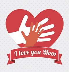 Mother day design vector image