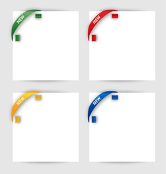 New corner ribbon on a white paper vector image