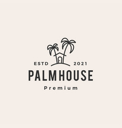 palm house hipster vintage logo icon vector image
