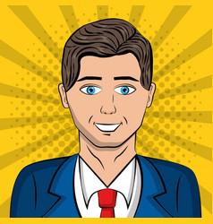 people pop art comic vector image