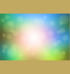 pink green blue blurred background with bokeh vector image