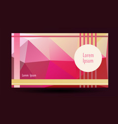 presentation template lowpolygonal background vector image