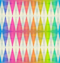 Rainbow rhombus seamless pattern vector