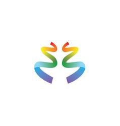 ribbon colorful logo vector image